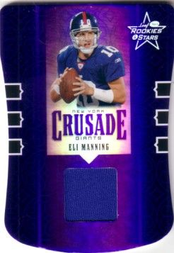 Eli Manning New York Giants 2005 Leaf game jersey card #47/150
