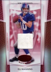 Eli Manning New York Giants 2007 Leaf Certified Materials game jersey card #21/100
