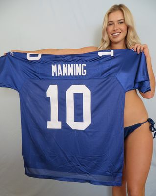 Eli Manning New York Giants authentic Reebok NFL Equipment stitched blue jersey NEW