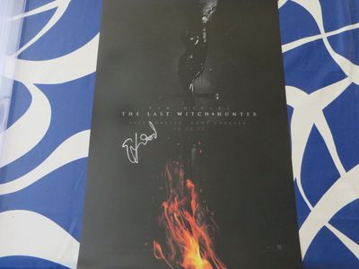 Elijah Wood autographed The Last Witch Hunter mini movie poster