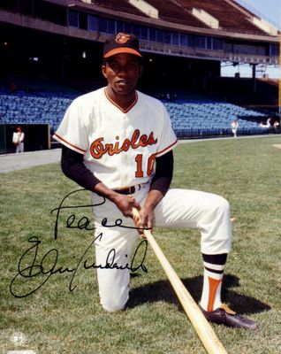 Ellie Hendricks autographed Baltimore Orioles 8x10 photo inscribed Peace
