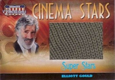 Elliott Gould (M*A*S*H) worn sweater swatch 2007 Donruss Americana Super Stars card #6/25