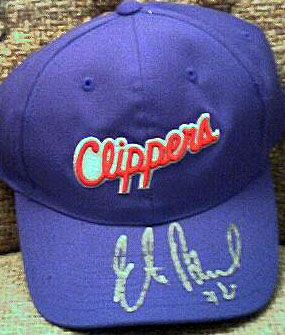 Elton Brand autographed Los Angeles Clippers cap or hat