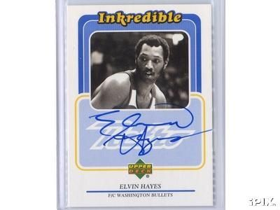Elvin Hayes certified autograph Upper Deck Retro card