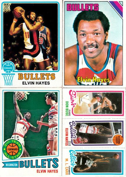 Elvin Hayes lot of 4 vintage Topps basketball cards 1973-74 1975-76 1977-78 1980-81