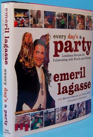 Emeril Lagasse autographed Every Day's A Party hardcover cookbook
