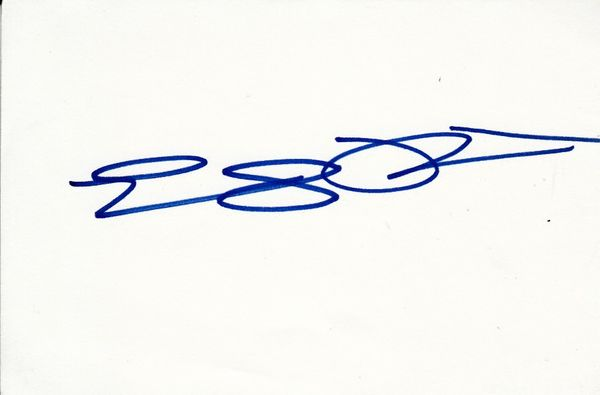 Emily Procter autographed index card
