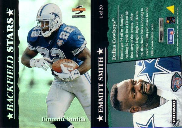 Emmitt Smith 1995 Summit Backfield Stars promo card