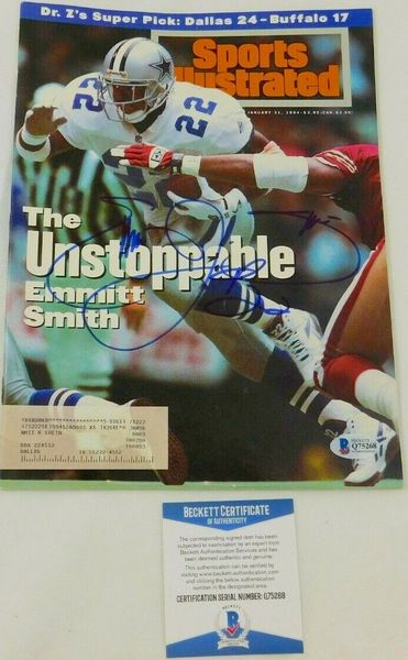 Emmitt Smith autographed Dallas Cowboys 1994 Sports Illustrated (BAS authenticated)