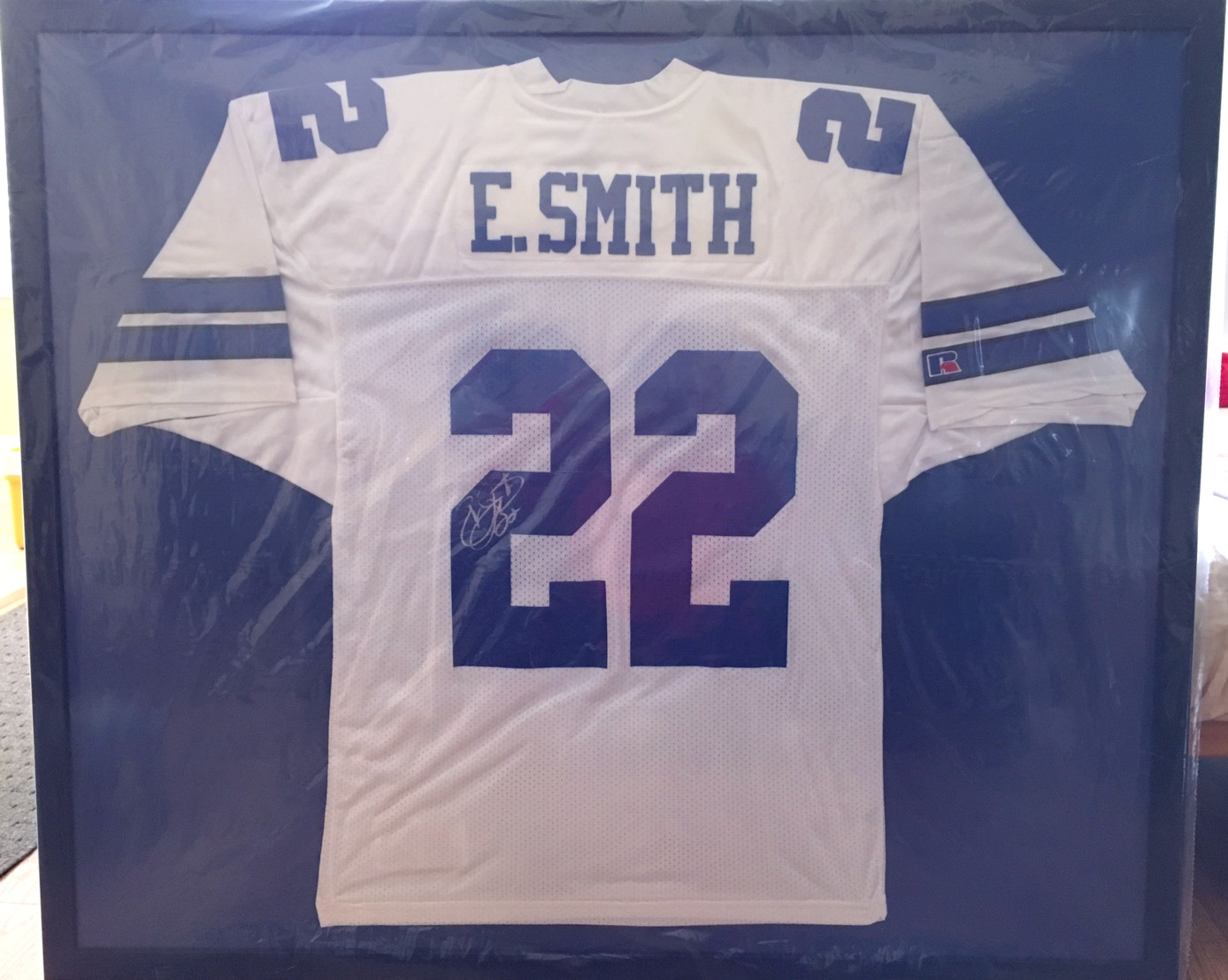 low priced 55aa8 8ff8e Emmitt Smith autographed Dallas Cowboys authentic Russell ...