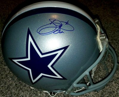 Emmitt Smith autographed Dallas Cowboys authentic Riddell full size Pro Line game model helmet (Prova)