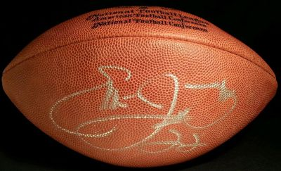 Emmitt Smith autographed Wilson NFL game model leather football (JSA)
