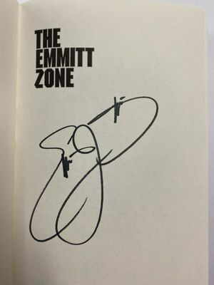 Emmitt Smith autographed The Emmitt Zone hardcover first edition book