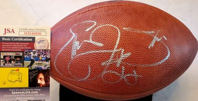 Emmitt Smith autographed Wilson NFL 1994 75th Anniversary game model leather football (JSA)