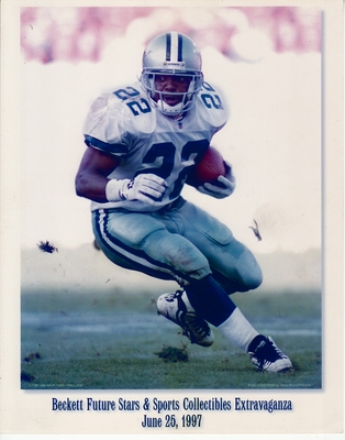 Emmitt Smith Dallas Cowboys 1997 Beckett 8x10 promotional photo