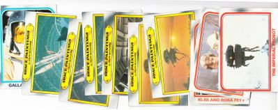 Empire Strikes Back 1980 Topps trading cards lot of 12