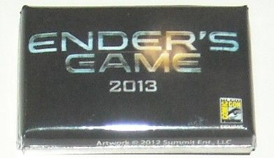 Ender's Game movie 2012 Comic-Con exclusive promo button or pin