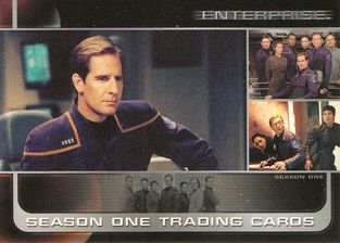 Enterprise Season One 2002 Rittenhouse promo card P1 (Scott Bakula)