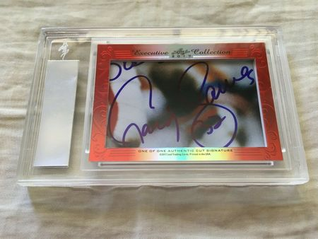 Eric Dickerson and Craig James 2017 Leaf Masterpiece Cut Signature certified autograph card 1/1 JSA