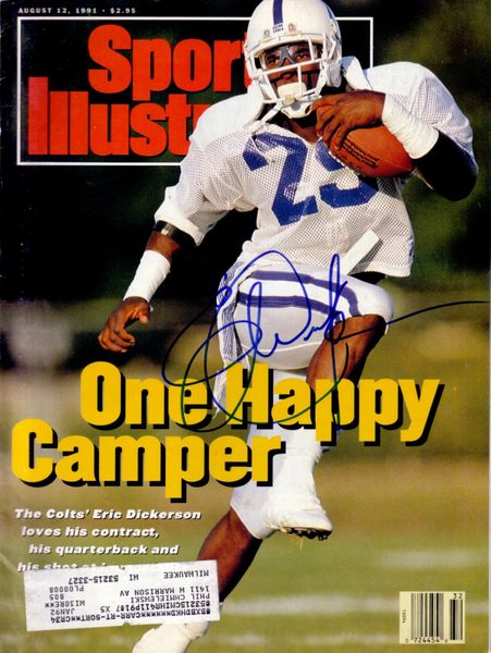 Eric Dickerson autographed Indianapolis Colts 1991 Sports Illustrated