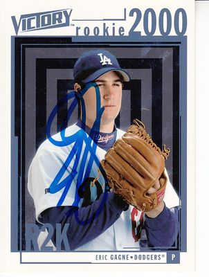 Eric Gagne autographed Los Angeles Dodgers 2000 Upper Deck Victory card