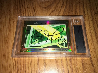 Eric Gordon 2013 Leaf Masterpiece Cut Signature certified autograph card 1/1 JSA Rockets