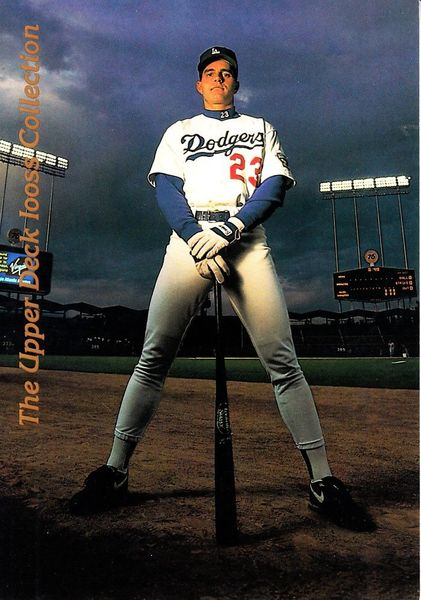 Eric Karros Los Angeles Dodgers 1993 Upper Deck Iooss Collection jumbo insert card #1988/10000