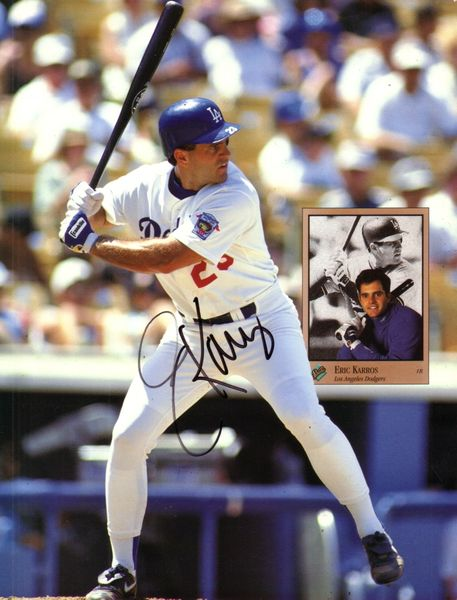 Eric Karros autographed Los Angeles Dodgers Beckett Baseball photo