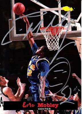 Eric Mobley autographed Pitt Panthers 1994 Classic Draft Picks card