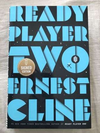Ernest Cline autographed Ready Player Two hardcover book