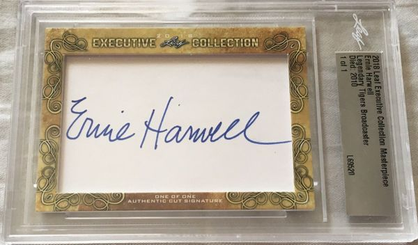 Ernie Harwell 2018 Leaf Masterpiece Cut Signature certified autograph card 1/1 JSA