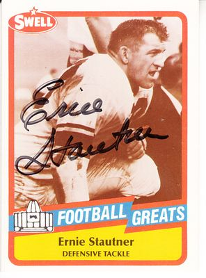 Ernie Stautner autographed 1989 Swell Football Greats Pro Football Hall of Fame card