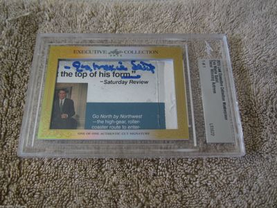 Eva Marie Saint 2015 Leaf Masterpiece Cut Signature certified autograph card 1/1 JSA North By Northwest