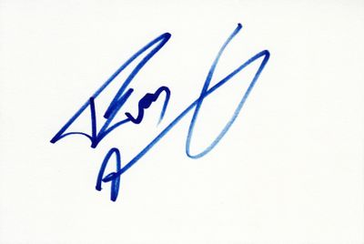 Evan Marriott autographed index card