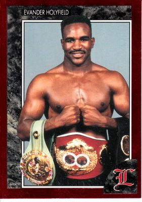 Evander Holyfield 1992 Legends boxing card