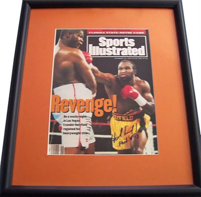 Evander Holyfield autographed 1993 Sports Illustrated cover matted & framed
