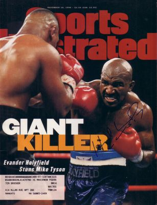 Evander Holyfield autographed 1996 Sports Illustrated