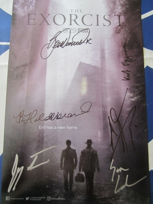 Exorcist cast autographed 2017 Comic-Con poster (Alfonso Herrera Ben Stevens)