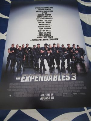 Expendables 3 cast mini 13x20 inch movie poster