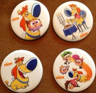 Fairly OddParents set of 4 different 2013 Comic-Con buttons or pins