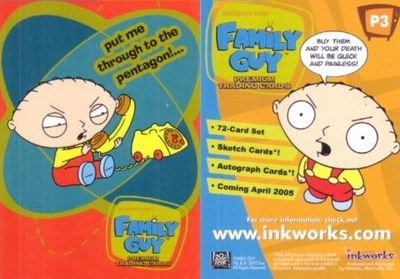Family Guy 2005 Inkworks promo card P3