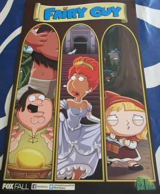 Family Guy 2013 San Diego Comic-Con exclusive 11x17 mini promo poster MINT
