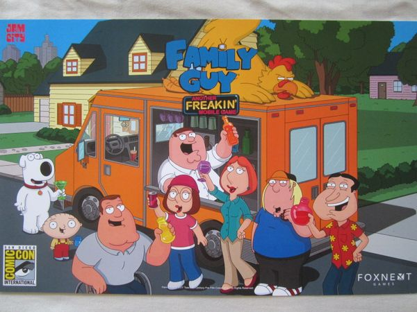 Family Guy Mobile Game 2017 Comic-Con exclusive poster