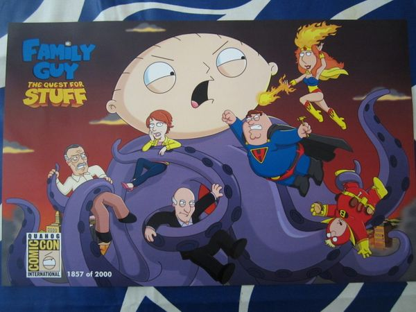 Family Guy The Quest for Stuff 2014 Comic-Con exclusive poster #/2000