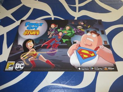 Family Guy The Quest for Stuff 2016 Comic-Con exclusive 11x17 poster