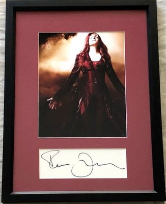 Famke Janssen autograph matted and framed with X-Men The Last Stand 8x10 movie photo