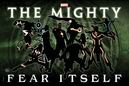 Fear Itself The Mighty The Worthy 24x34 Marvel promo poster MINT