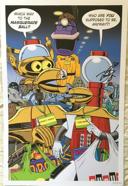 Felicia Day and Steve Vance autographed Mystery Science Theater 3000 2018 Comic-Con 11x17 lithograph #/250