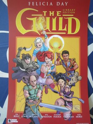 Felicia Day autographed The Guild 2017 Comic-Con Dark Horse mini promo poster