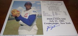 Fergie Jenkins autographed Chicago Cubs 8x10 Hall of Fame photo card